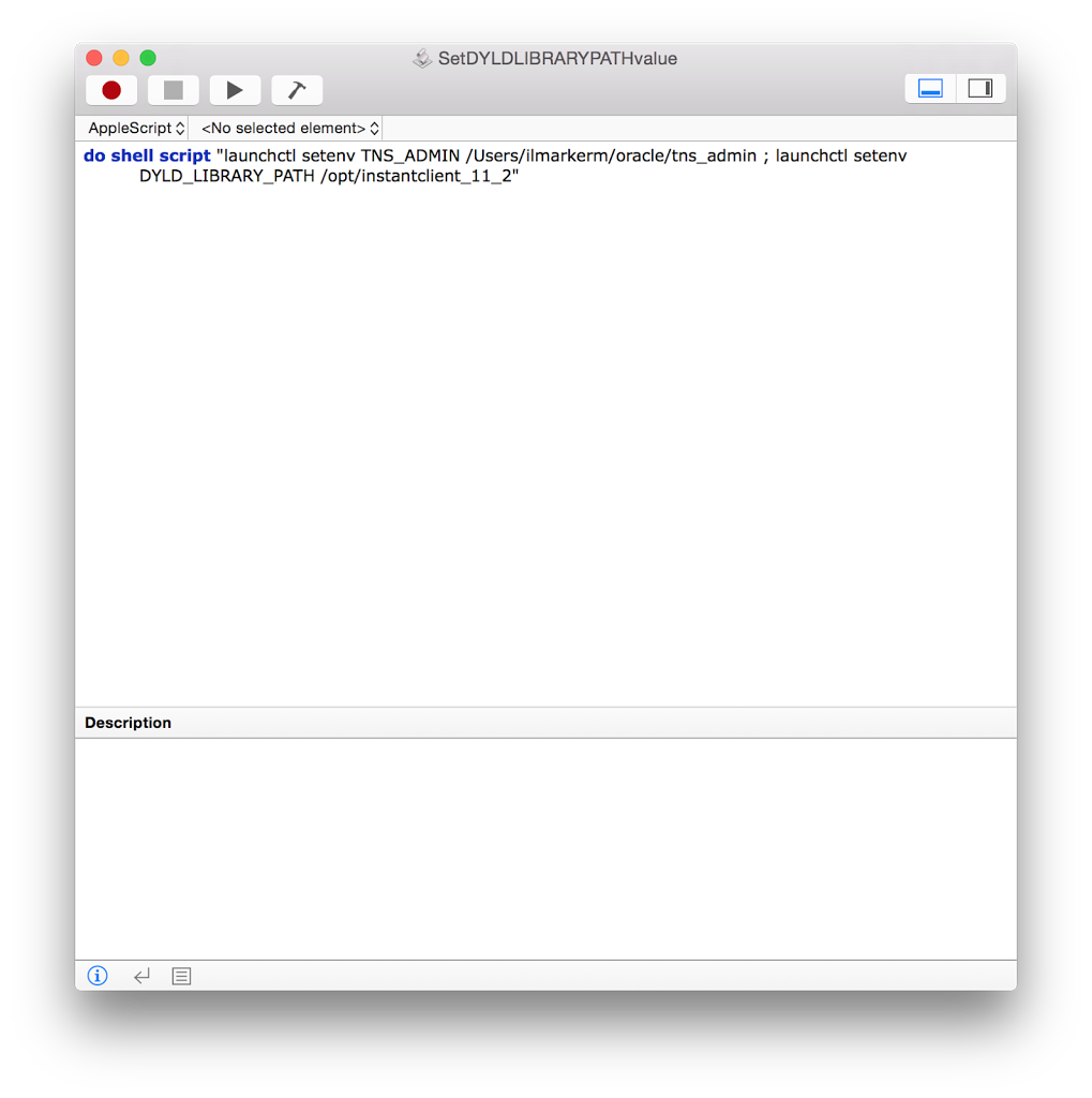 Setting up SQL Developer with Instant Client on MacOSX – Ilmar Kerm
